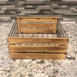 Wire and wood basket